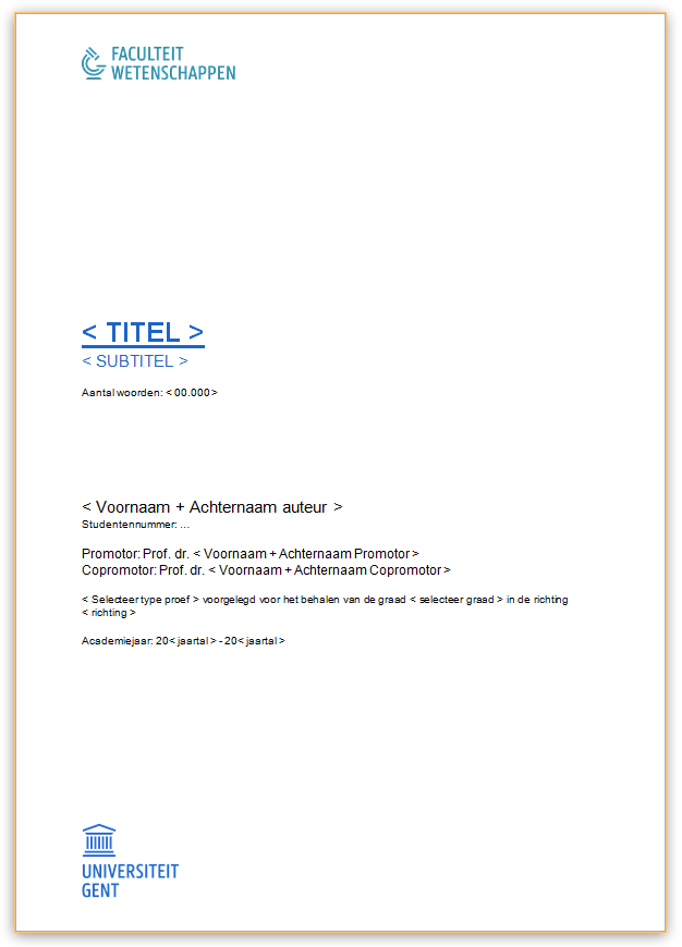 thesis fppw ugent